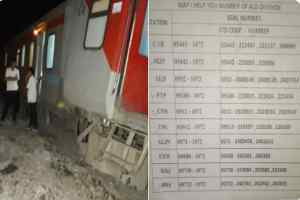 कानपुर के पास बेपटरी हुई पूर्वा एक्सप्रेस, करीब 13 लोग घायल